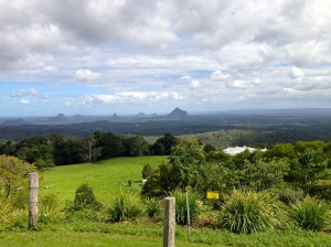 View from Mary Cairncross of the Glass House Mountains